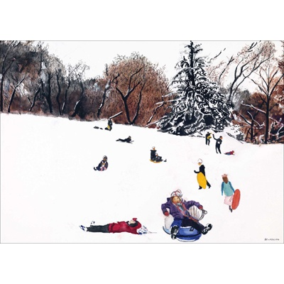 Painting by Tony Bennett for the American Cancer Society Christmas card for 2010